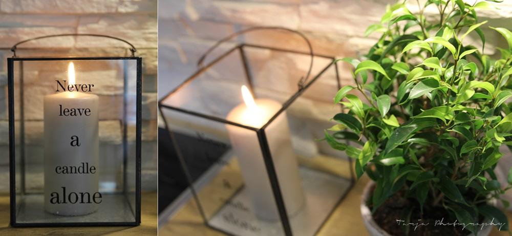 Kasveja ja kynttilöitä