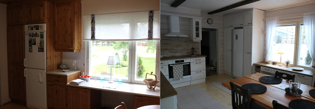 Before and after – The Kitchen